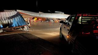 2 Planes, 3 Vehicles Damaged After Hangar Collapses At Clinton Airport In Tuesday Night Storms