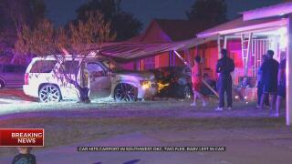 Police Search For Parents Of Baby Left Inside Car That Crashed Into SW OKC Home